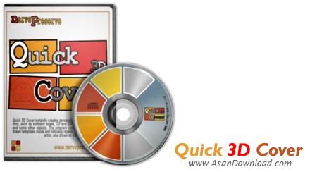 دانلود Quick 3D Cover v2.0.1 - نرم افزار طراحی کاور و لیبل و جعبه های سه بعدی