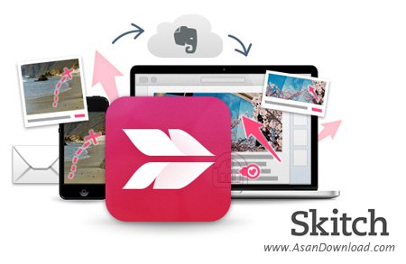 دانلود Skitch v2.3.1.169 - نرم افزار قرار دادن Watermark روی عکس ها