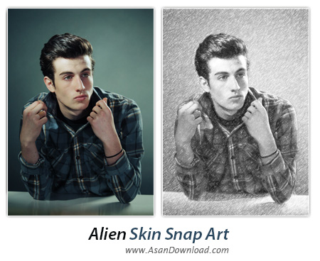 دانلود Alien Skin Snap Art v4.1.0.151 Build 35726 - پلاگین تبدیل عکس به طرح نقاشی در فتوشاپ