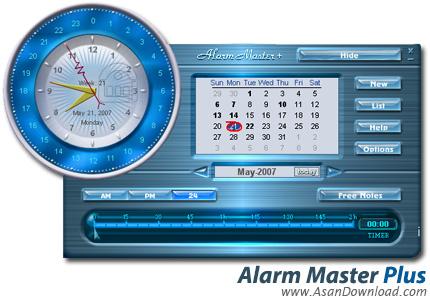 دانلود Alarm Master Plus v5.04.00 - نرم افزار ساعت زنگ دار همه کاره