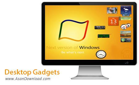 دانلود Desktop Gadgets v1.3 - گجت مخصوص ویندوز 8 و 8.1