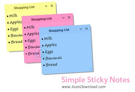 دانلود Simple Sticky Notes v4.7 - نرم افزار ثبت یادداشت ها