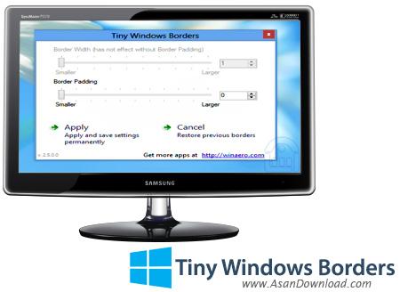 دانلود Tiny Windows Borders v2.5 - نرم افزار تغییر اندازه Border پنجره ها در ویندوز 8