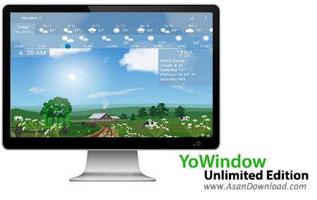 دانلود YoWindow Unlimited Edition 4 Build 108 - نرم افزار نمایش وضعیت آب و هوا
