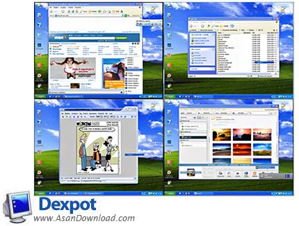 دانلود Dexpot v1.6.14 Build 2439 - نرم افزار ایجاد چندین دسکتاپ مجازی با تنظیمات مستقل