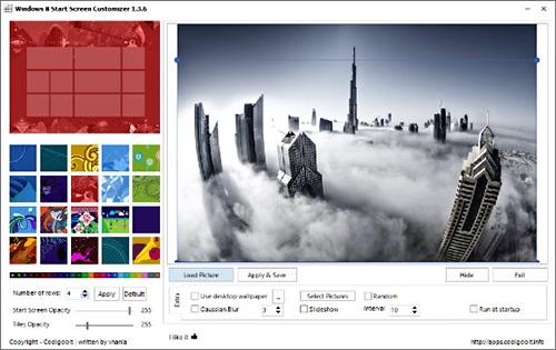دانلود Windows 8 Start Screen Customizer v1.3.8 - نرم افزار تغییر تصویر زمینه Start Screen ویندوز 8