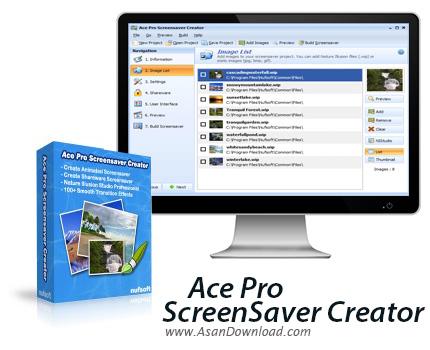دانلود Nufsoft Ace Pro Screensaver Creator v4.12 - نرم افزار ساخت اسکرین سیور