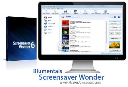 دانلود Blumentals Screensaver Wonder v7.3.0.68 - نرم افزار ساخت اسکرین سیور