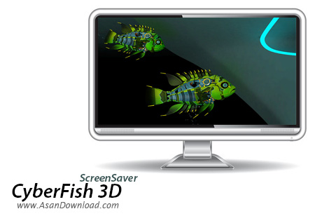 دانلود CyberFish 3D ScreenSaver v1.0 - تجربه آکواریومی متفاوت