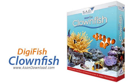 دانلود DigiFish Clownfish - اسکرین سیوری زیبا و با کیفیت