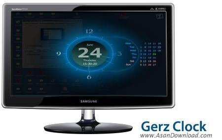 دانلود Gerz Clock v2.41 - محافظ صفحه نمايش ساعت
