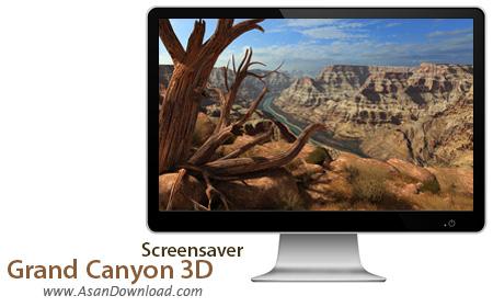 دانلود Grand Canyon 3D Screensaver - اسکرین سیور سفر به میلیون ها سال قبل