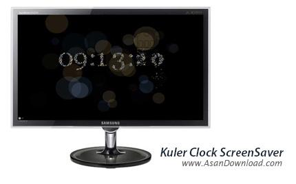 دانلود Kuler Clock ScreenSaver - ساعتی زیبا در قالب اسکرین سیور