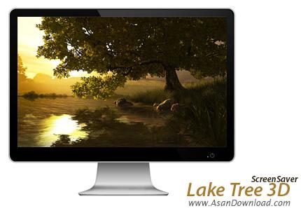 دانلود Lake Tree 3D Screensaver v1.0.0.1 - اسکرین سیور درخت کنار دریاچه