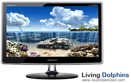 دانلود Living Dolphins 3D Screensaver - اسکرین سیور دلفین