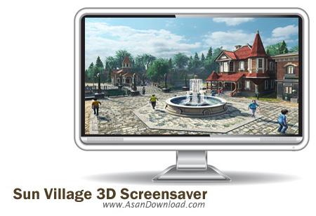 دانلود Sun Village 3D Screensaver v1.1.0822 - اسکرین سیوری با موضوع روستای سه بعدی