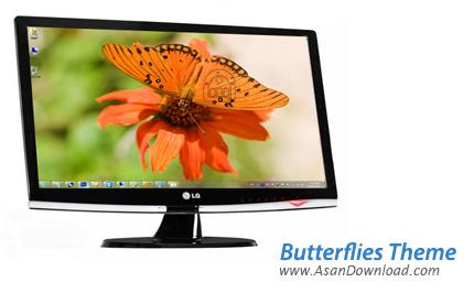 دانلود Butterflies Theme - پوسته پروانه ها در ویندوز 7