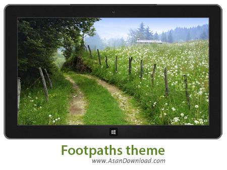 دانلود Footpaths theme - پوسته بهاری برای ویندوز