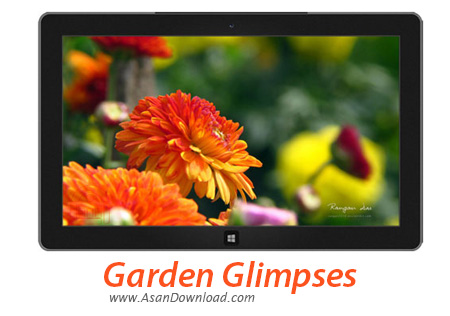 دانلود Garden Glimpses - پوسته ی بهاری برای ویندوز 7 و 8