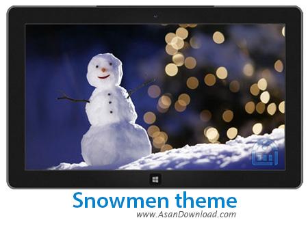 دانلود Snowmen theme - پوسته آدم برفی برای ویندوز 7 ، 8 و 8.1
