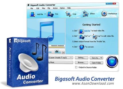 دانلود Bigasoft Audio Converter v4.3.5.5344 - نرم افزار مبدل فایل های صوتی