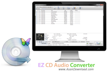 دانلود EZ CD Audio Converter v5.1.1.1 - نرم افزار مبدل سی دی های صوتی