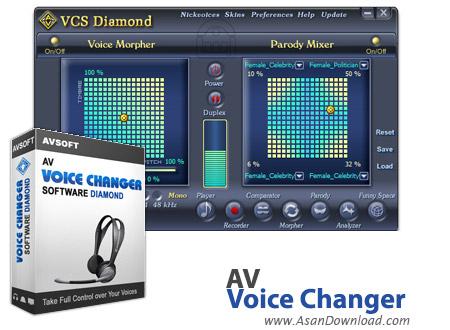 دانلود AV Voice Changer Diamond v8.0.24 - نرم افزار تبدیل صدای خود به جنس مخالف