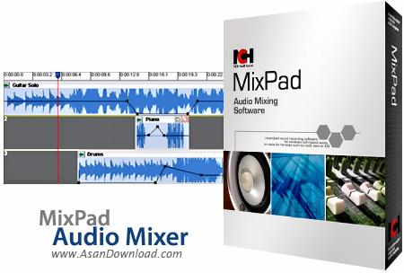 دانلود MixPad Audio Mixer v5.02 - نرم افزار ضبط و میکس آهنگ های صوتی