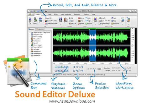 دانلود Sound Editor Deluxe v9.9.2 - نرم افزار ساده ویرایش صوت