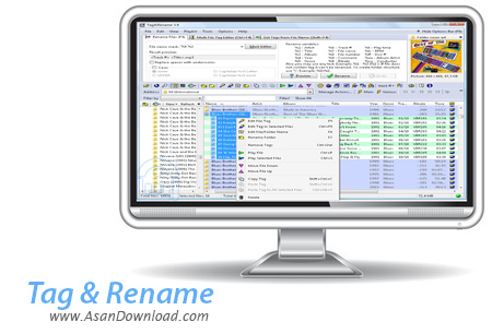 دانلود Tag & Rename v3.8.2 - نرم افزار تغییر نام و تگ موزیک ها به صورت دسته ای