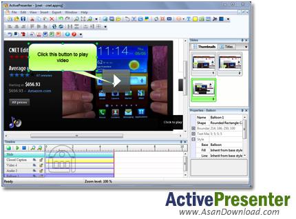 دانلود ActivePresenter Pro v6.1.0 - نرم افزار ساخت پروژه ها و فیلم های آموزشی