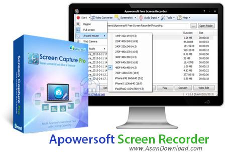 دانلود Apowersoft Screen Recorder Pro v2.4.1.0 - نرم افزار فیلمبرداری از صفحه نمایش