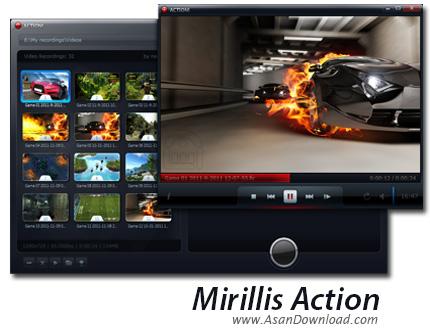 دانلود Mirillis Action v3.5.1 - نرم افزار فیلمبرداری از محیط بازی