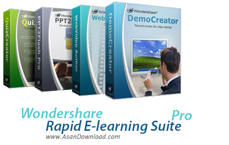 دانلود Wondershare Rapid E-learning Suite Pro v5.6.5.8 - نرم افزار ساخت مجموعه های آموزشی