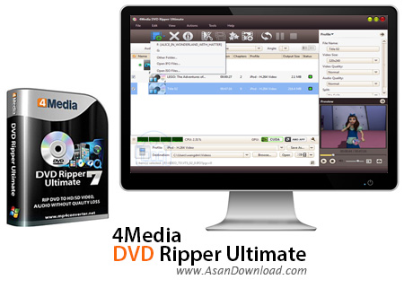 دانلود 4Media DVD Ripper Ultimate v7.8.11 - نرم افزار استخراج فیلم از دی وی دی ها