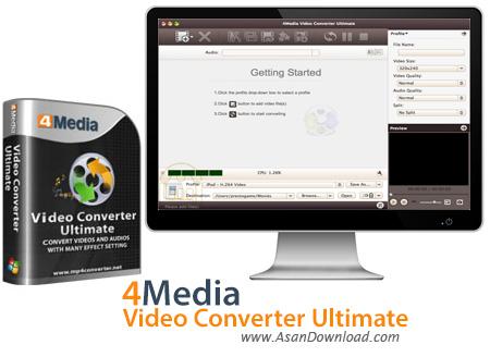 دانلود 4Media Video Converter Ultimate v7.8 - مبدل فرمت های ویدئویی