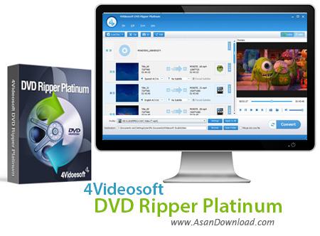 دانلود 4Videosoft DVD Ripper Platinum v5.3.8 - نرم افزار مبدل دی وی دی ها