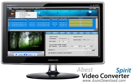 دانلود Abest Video Converter Spirit v7.70 - نرم افزار مبدل فایل های ویدیویی