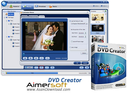 دانلود Aimersoft DVD Creator v5.1.68 - نرم افزار ساخت فیلم های دی وی دی