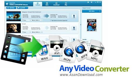 دانلود Any Video Converter Ultimate v7.1.1 + Pro v6.2.6 - نرم افزار تغییر فرمت انواع فایل های ویدئویی