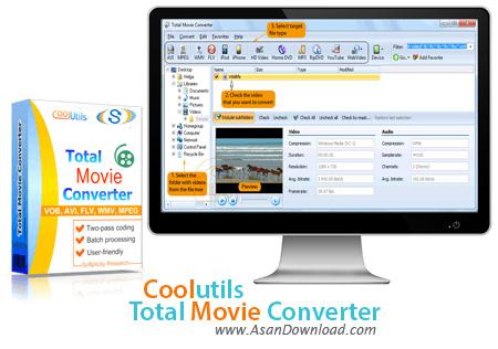 دانلود Coolutils Total Movie Converter v4.1.28 - نرم افزار مبدل فایل ویدئویی