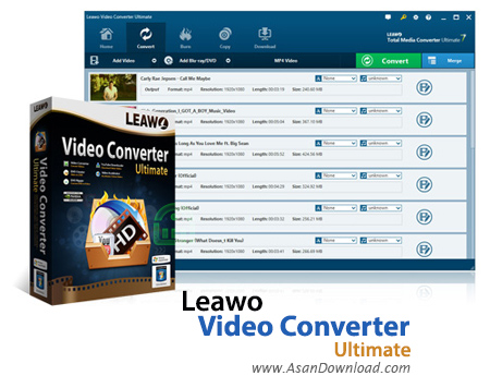 دانلود Leawo Video Converter Ultimate v8.0.0.0 - نرم افزار تبدیل فرمت فیلم و دی وی دی