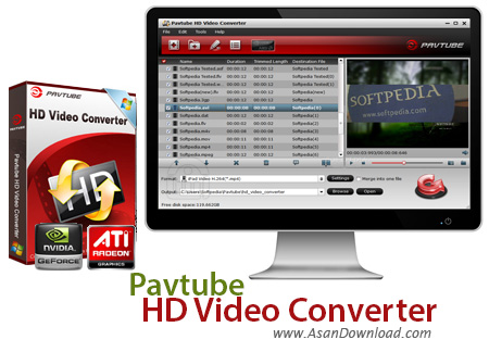 دانلود Pavtube Video Converter HD v4.9.3.0 - نرم افزار مبدل گیرنده های دیجیتال