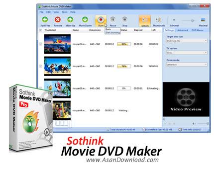 دانلود Sothink Movie DVD Maker v3.7 - نرم افزار ساخت دی وی دی فیلم
