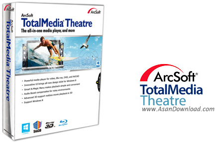 دانلود Arcsoft TotalMedia Theatre v6.7.1.199 - نرم افزار پخش فايل های صوتی و تصويری