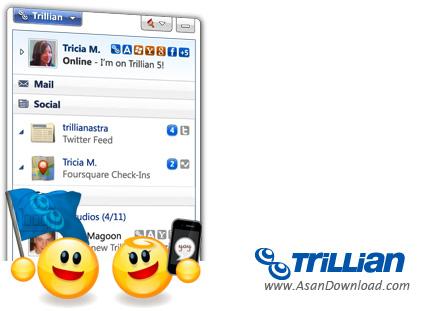 دانلود Trillian Pro v6.0 Build 61 + Yahoo Emoticons - نرم افزار چت با استفاده از اکانت سایت های مختلف