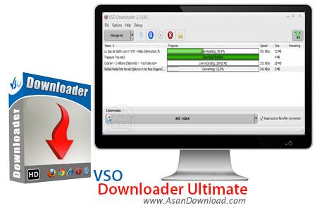 دانلود VSO Downloader Ultimate v5.0.1.49 - نرم افزار دانلود ویدئوهای آنلاین