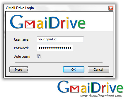 دانلود GMail Drive v1.0.20 - نرم افزار ایجاد درایو مجازی از فضای جی میل