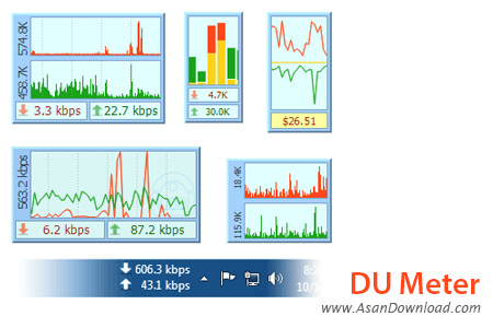 دانلود DU Meter v7.11 Build 4757 - نرم افزار مدیریت پهنای باند اینترنت