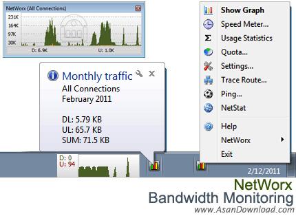 دانلود NetWorx v6.2.6 - نرم افزار ثبت و نمایش میزان پهنا باند مصرفی